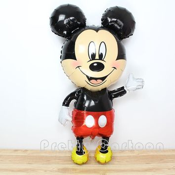 Large 45inch mickey balloons Minnie Mouse Airwalker Foil Balloon