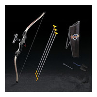 Parents and shooting bow and arrow toy boy toys outdoor sports fitness equipment Archery Green Arrow    black