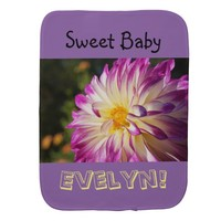 Sweet Baby Burp Cloths Baby's Name Baby Girl