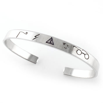 Harry Potter Symbols - Cuff Bracelet
