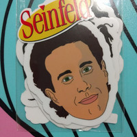 Seinfeld Floating Heads Vinyl Stickers