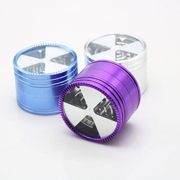 63mm Aluminum Herb Grinder Triangle Slice Design - Random Color Shipped