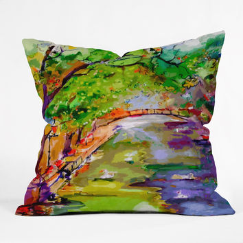 Ginette Fine Art Annecy Canal France Throw Pillow