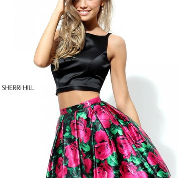 Sherri Hill 50582 Two Piece Floral Party Dress | RissyRoos.com