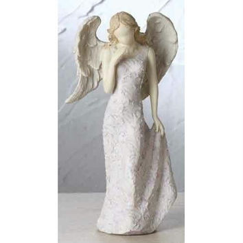 "4 Angel Figures - 6.5 "" H X 3.25 "" W X 2.5 "" D"