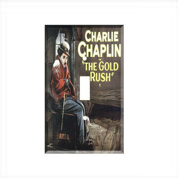 Light Switch Cover - Light Switch Plate Charlie Chaplin Gold Rush