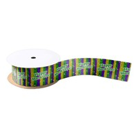 Happy Mardi Gras Poster Satin Ribbon