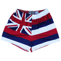 Womens Hawaii Flag Shorts