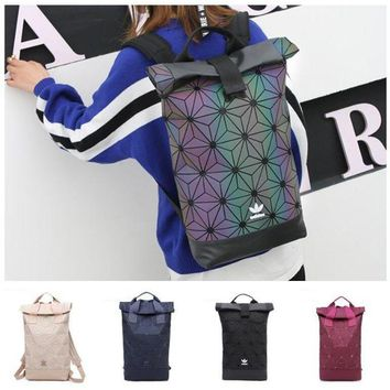 Adidas 3D Mesh Roll Top Backpack /Issey Miyake Style Bag Fashion Ready Stock!!