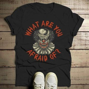 Men's Halloween T Shirt Scary Clown Shirts Evil Clowns Graphic Tee