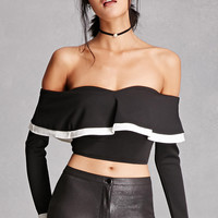 Tiger Mist Flounce Crop Top