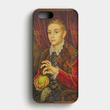 Boy With Apple Grand Budapest Hotel iPhone SE Case