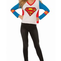 Supergirl Superhero Shirt With Cape Costume