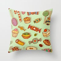 candy and pastries Throw Pillow by Chicca Besso