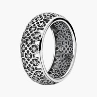 Women's PANDORA Lattice Ring - Sterling Silver/ Clear