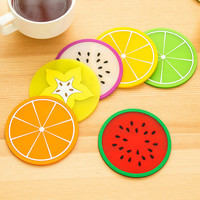 Non-slip Fruit Placemat Cup Coffee Mug Drink Coaster Dining Table Placemats Desk Accessories