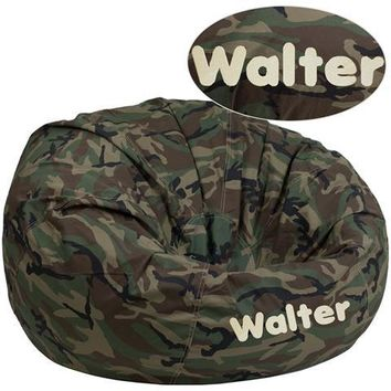 Personalized Oversized Camouflage Kids Bean Bag Chair