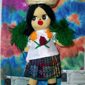 Vintage Peruvian Ethnic Cloth Doll Native Chola