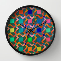 Zig zag Wall Clock by Tony Vazquez