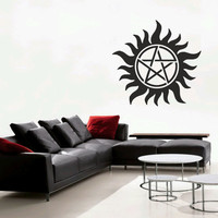 "Supernatural Anti-Possession symbol 23""-58cm wall decal PLUS two laptop decals"