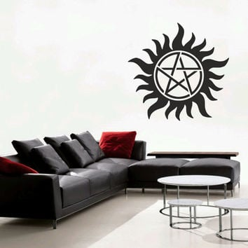 """Supernatural Anti-Possession symbol 23""""-58cm wall decal PLUS two laptop decals"""