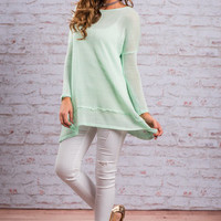 Your Own Way Top, Seafoam