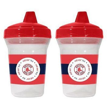 Boston Red Sox MLB 5 oz Plastic Sippy Cups (Set of 2) BPA Free