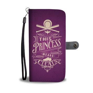 This Princess Wears Cleats Softball Princess Wallet Phone Case