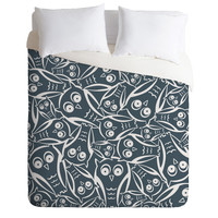 Heather Dutton Night Owl Duvet Cover