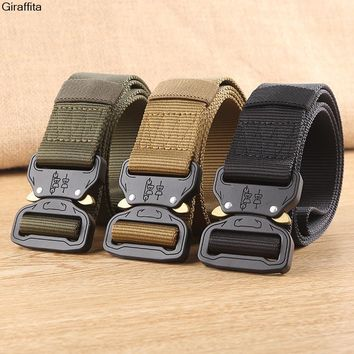 New Fashion Hot Tactical Gear Heavy Duty Belt Cobra Nylon Metal Buckle  Patrol Waist Belt Tactical Hunting Accessories