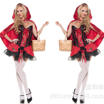 Little Red Cap Cosplay Anime Cosplay Apparel Holloween Costume [9211523972]