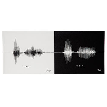 Personalized Anniversary Sound Wave Print | voice print, wedding vows