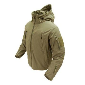 Summit Softshell Jacket Color- Tan (X-Small)