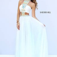 Sherri Hill 11247 Beaded Chiffon Prom Dress