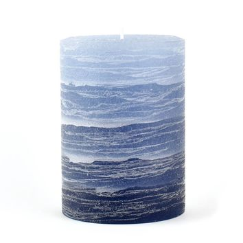 "Blue Layered Candle | Rustic 3x4"" 3x6"" or 4x6"""