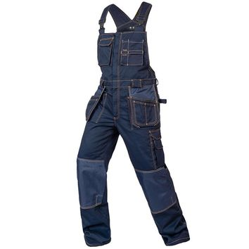 Bib overalls men work coveralls multi-functional pockets repairman strap jumpsuits pants wear-resistance working uniforms