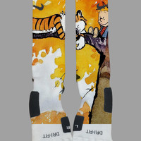 Calvin and Hobbes Custom Nike Elite Socks - Socktimus Prime Custom Nike Elites