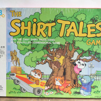 "Vintage  ""The Shirt Tales Game"" -  Milton Bradley Game - Vintage Board Game - 1983 Shirt Tales - 3D Game Board"