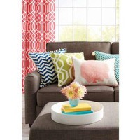 "Better Homes and Gardens 14"" x 20"" Engineered Printed Pillow with Binding, Coral - Walmart.com"