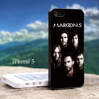Maroon 5 Band For iPhone 5 Black Case