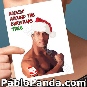Christmas Cards | The Rock | Dwayne Johnson Rocky Maivia Husband Christmas Xmas Greeting Card Boyfriend Card Girlfriend Card Boyfriend Gift