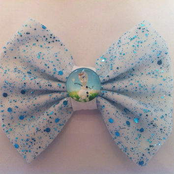 Frozen Inspired Olaf Hair Bow