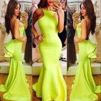 On Sale CUTE HOT SEXY DESIGN LONG BACKLESS DRESS