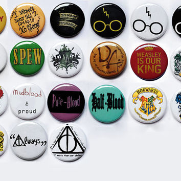 Harry Potter pin button badges pick any from 5 to 20 badges