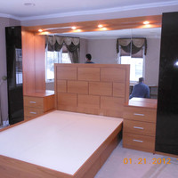 Pier Wall Bed and Nightstands in Queens, NY