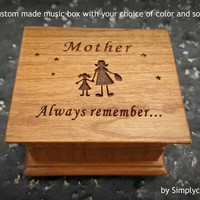 Mother's day gift, music box, gift for mom, gift for daughter, mother of bride gift, you are my sunshine, simplycoolgifts, Christmas gift,