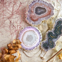 Amethyst Stalactite Silver Necklace