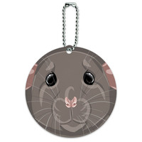 Rat Pet Mouse Rodent Round ID Card Luggage Tag