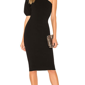 MILLY One Shoulder Dress in Black | REVOLVE