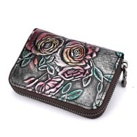 Flowery Vintage Card Holder